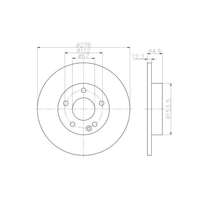 2 textar bremsscheiben 276mm vorne f r mercedes a klasse w169. Black Bedroom Furniture Sets. Home Design Ideas