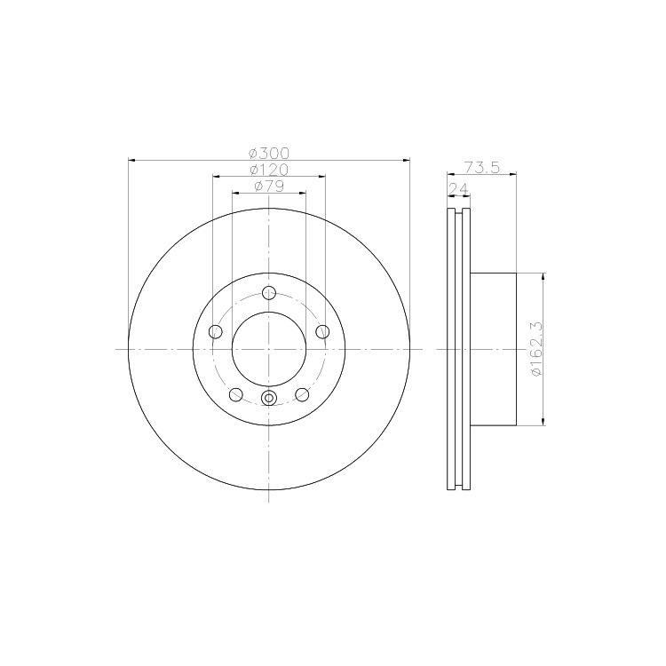 2 Textar Bremsscheiben 300mm vorne BMW E81 E90  120 320-325