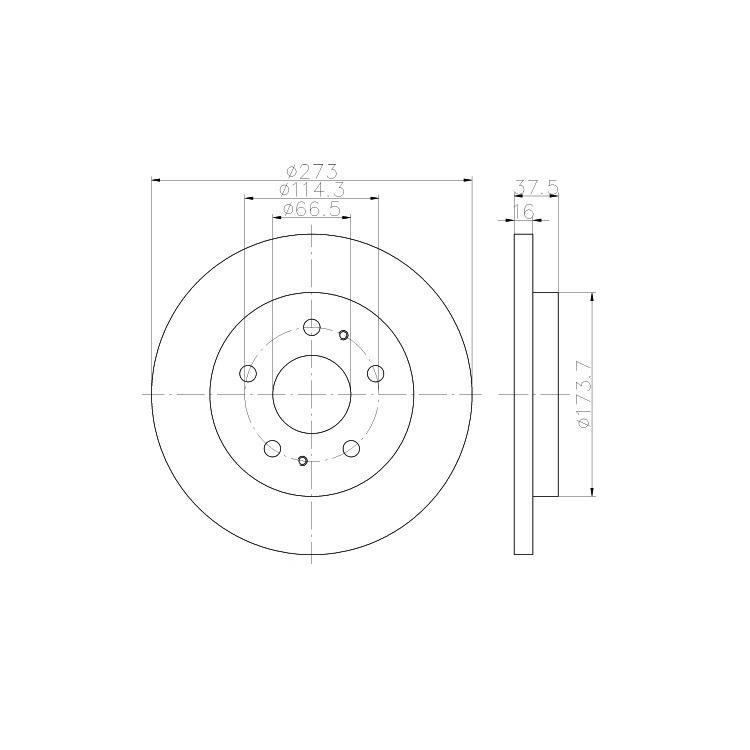 2 Textar Bremsscheiben 273mm vorne Daihatsu Terios 1,3 1,5