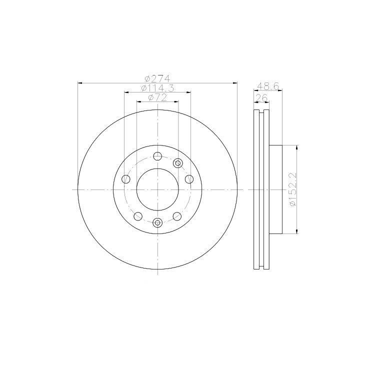 Textar Bremsscheiben + Bremsbeläge vorne Kia Carnival UP GQ 2,5 V6 2,9 TD