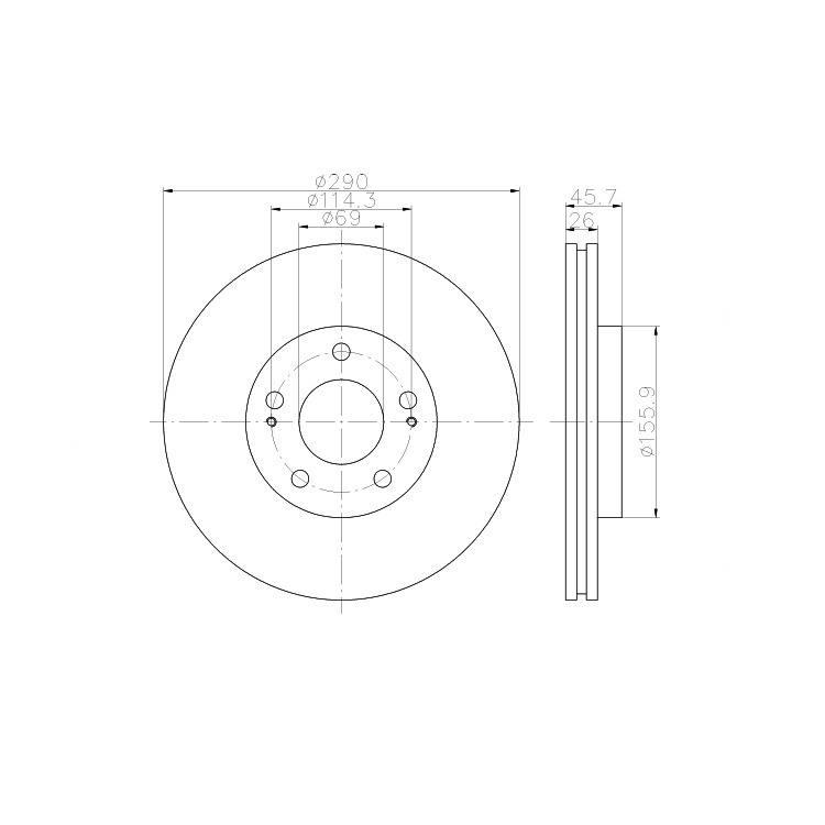 Textar Bremsscheiben + Bremsbeläge vorne Mitsubishi Grandis 2,0 2,4