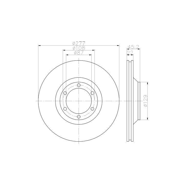 2 Textar Bremsscheiben 277mm vorne Hyundai Galloper II
