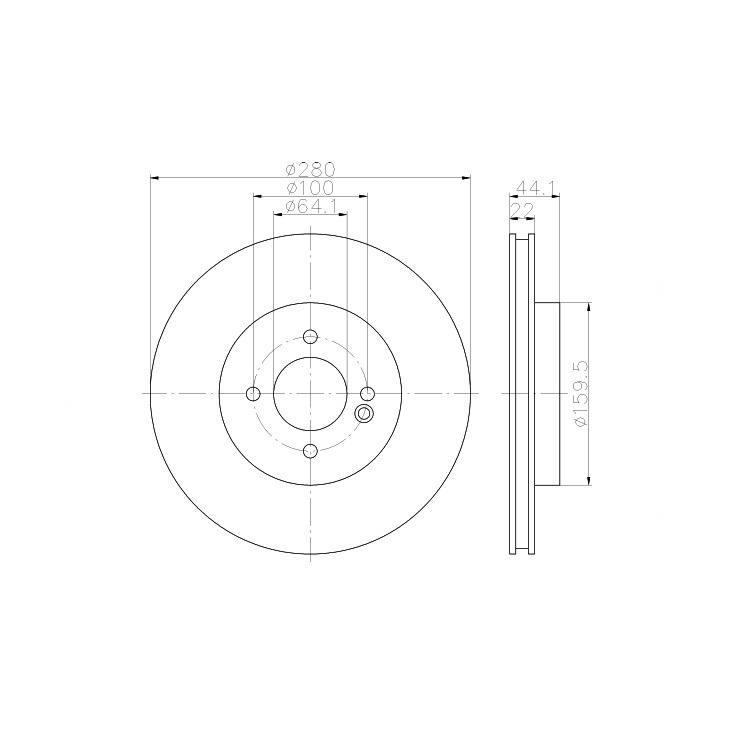 2 Textar Bremsscheiben 280mm vorne Mini Clubman Cooper One D