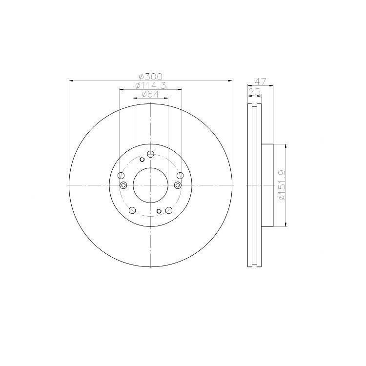 """Textar Bremsscheiben + Bremsbeläge vorne Honda CR-V II 2,0 2,2 CDTi mit 16"""" Felgen"""