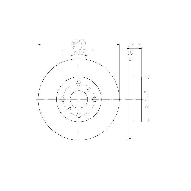 4x TEXTAR Bremsbeläge vorne Für TOYOTA IQ 2477801