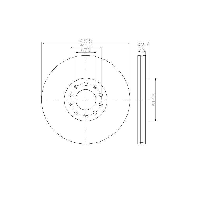 2 Textar Bremsscheiben 305mm vorne 92220803 online günstig Autoteile kaufen