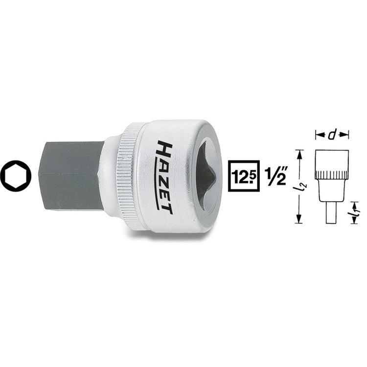 Hazet Bit Einsatz 1/2 Zoll 6-Kant 6mm