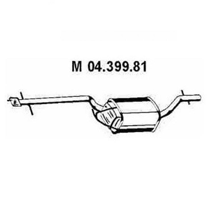 Eberspächer Mittelschalldämpfer Ford Focus 1,8 16V